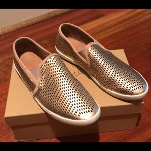 NWT Joie Rose Gold Laser Cut Sneakers - 9.5